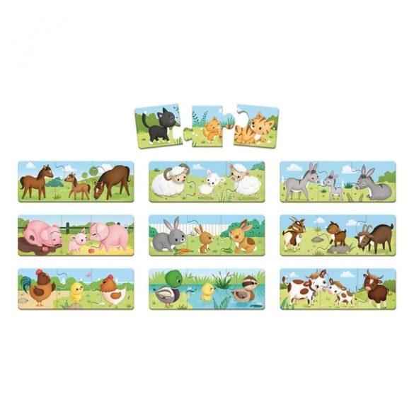 Janod J02710 Párosítós puzzle - Farm állatok (30 db-os)