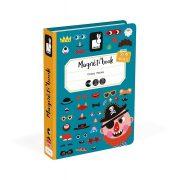 Janod J02716 Mágneses könyv - Fiús vicces arcok