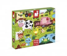 Janod J02772 Tapintós puzzle - Farm állatok (20 db-os)