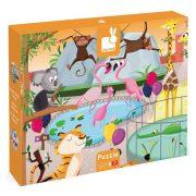 Janod 02774 Tapintós puzzle - Egy nap az állatkertben (20 db)
