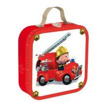 Janod J02882 4 puzzle egy dobozban - Leon tűzoltóautója