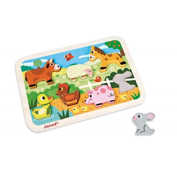 Janod J07055 3D puzzle - Farm