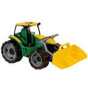 Lena - Óriás zöld traktor markoló lapáttal (62 cm, dobozos)