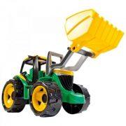 Lena - Óriás zöld traktor markoló lapáttal (62 cm)