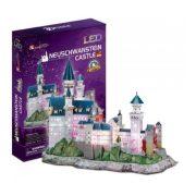CubicFun L174 3D Világító puzzle - Neuschwanstein kastély (128 db)