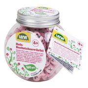 Fa rózsazsín ABC gyöngyök dobozban (160 darabos)