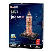 CubicFun 3D puzzle - Világító Big Ben (28 db)
