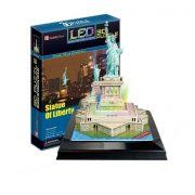 CubicFun L505 3D világítós puzzle - New York, Szabadság-szobor (37 db)