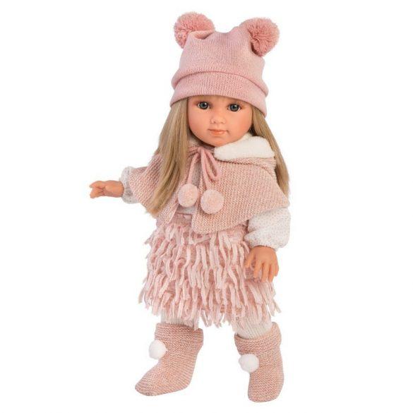 Llorens Elena lány baba rózsaszín ruhában (35 cm)