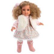 Llorens Elena baba virágmintás ruhában (35 cm)