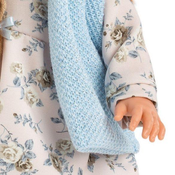 LLorens Martina lány baba kék kabáttal (40 cm)