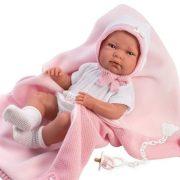 Llorens Nica újszülött lány baba babapléddel (40 cm)