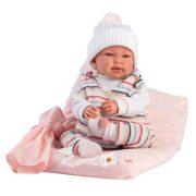 Llorens Tina újszülött síró baba párnával és babakendõvel (44 cm)
