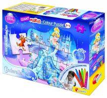 Lisciani Giant puzzle filctollakkal - Hamupipőke (26 db-os) 39838