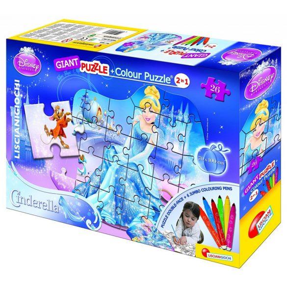 Lisciani 39838 Giant puzzle filctollakkal - Hamupipőke (26 db-os)
