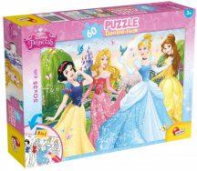 Lisciani 47901 Double-Face puzzle - Disney Hercegnők (60 db-os)