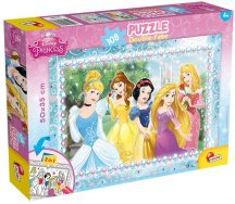 Lisciani 47963 Double-Face puzzle - Disney Hercegnők (108 db-os)