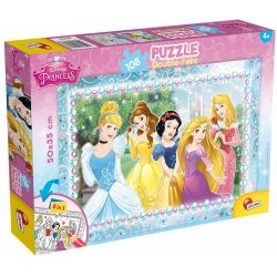 Lisciani 47963 Double-Face puzzle - Disney Hercegnők (108 db-os)