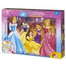 Lisciani 48250 Double-Face Maxi puzzle - Disney Hercegnők (60 db-os)