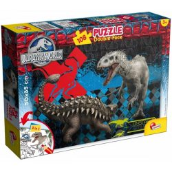 Lisciani 48632 Double-Face puzzle - Jurassic World (108 db-os)
