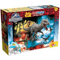 Lisciani 48663 Double-Face Maxi puzzle - Jurassic World - The Lost Valley (108 db-os)