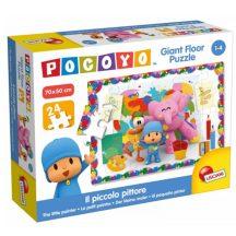 Lisciani 65943 Pocoyo óriás padló puzzle - A kis festő (24 db-os)