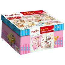 Ludattica 58174 8+1 Baby puzzle - A város