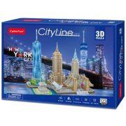 CubicFun MC255 3D City Line puzzle - New York (123 db-os)