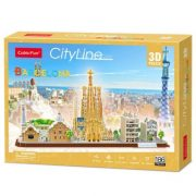 CubicFun MC256 3D City Line puzzle - Barcelona (186 db-os)