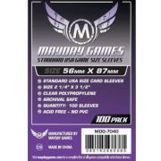 Mayday Games Premium USA méretû kártyavédõ 100 db-os csomag (56 x 87 mm)