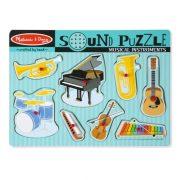 Melissa & Doug Hangos puzzle - Hangszerek (8 db-os)