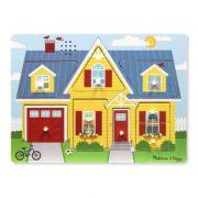 Melissa & Doug Hangos puzzle - A ház körül (8 db-os)