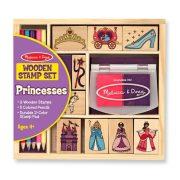 Melissa & Doug Fa nyomdakészlet ceruzákkal - Hercegnős