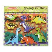 Melissa & Doug Készségfejlesztő könnyen fogható puzzle - Dinók