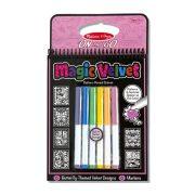 Melissa & Doug Kreatív játék, Bársonyos színező, pillangók