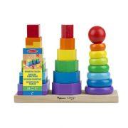 Melissa & Doug Készségfejlesztő fa játék - Montessori tornyok