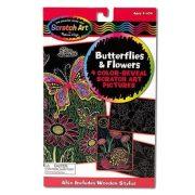 Melissa & Doug Képkarc szett - Pillangók és virágok