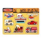 Melissa & Doug Hangos puzzle - Járművek (8 db-os)