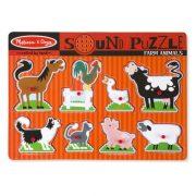 Melissa & Doug Hangos puzzle - Farm állatok (8 db-os)