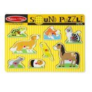 Melissa & Doug Hangos puzzle - Állatok (8 db-os)