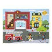 Melissa & Doug Hangos puzzle - Tűzoltóállomás (8 db-os)