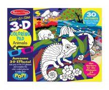 Melissa & Doug 3D színező könyv - Állatok