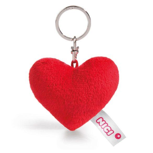 NICI Love plüss szív kulcstartó