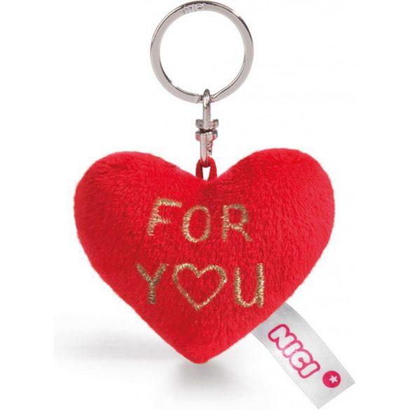 NICI Love plüss szív kulcstartó - FOR YOU