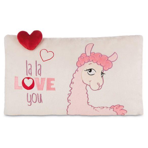 NICI La-La-Llama-Love Párna szív mintával (43x25 cm)