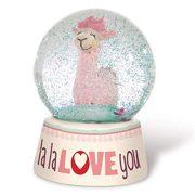 NICI La-La-Llama-Love Csillogó hógömb (6,5 cm)