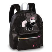NICI Carbon Flash fekete unikornis hátizsák (38x32x14 cm)
