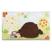 NICI Forest Friends - Criz Lee, a grizzly medve plüss párna (43x25 cm)
