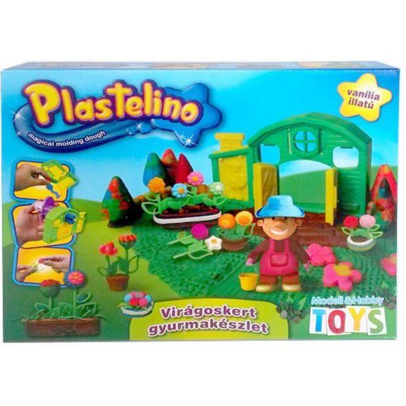 Plastelino Virágoskert gyurmakészlet