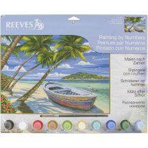 Reeves Festés számok után - Trópusi tengerpart
